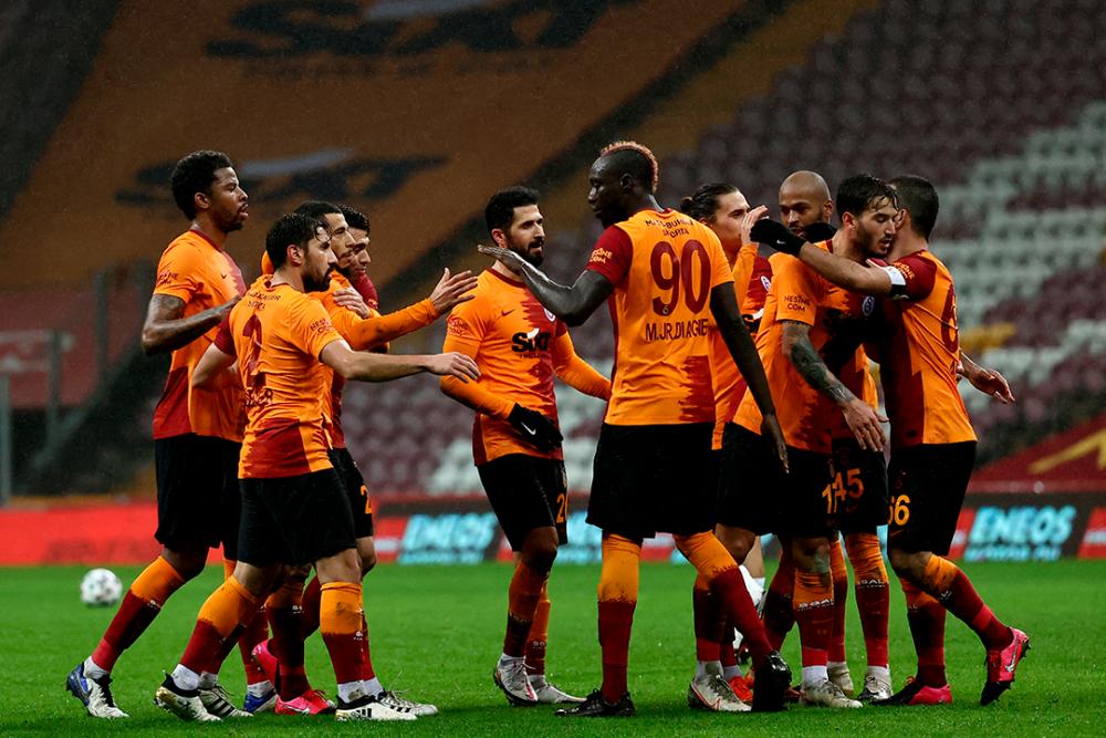 Jugadores del Galatasaray. AFP.png