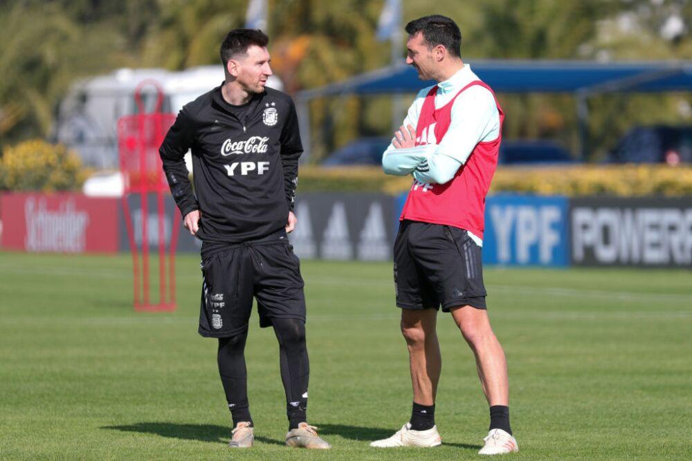 Lionel Messi - Scaloni