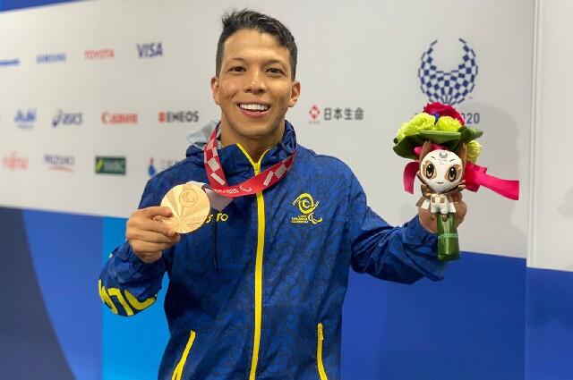 Nelson Crispín, medallista paralímpico colombiano