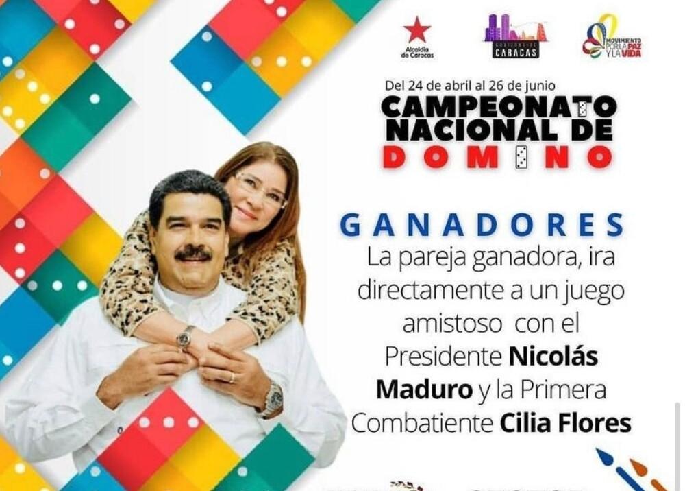 Campeonato Dominó Nicolás Maduro Foto Instagram.