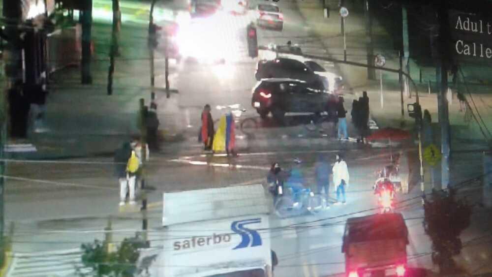 Manifestantes en vías de Cundinamarca