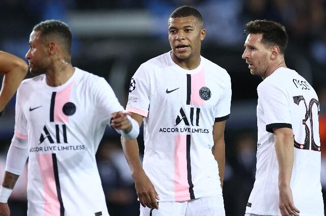 Neymar, Kylian Mbappé y Lionel Messi fueron titular en Champions League
