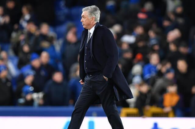 333494_Carlo Ancelotti entrenador italiano de Everton, de Inglaterra.
