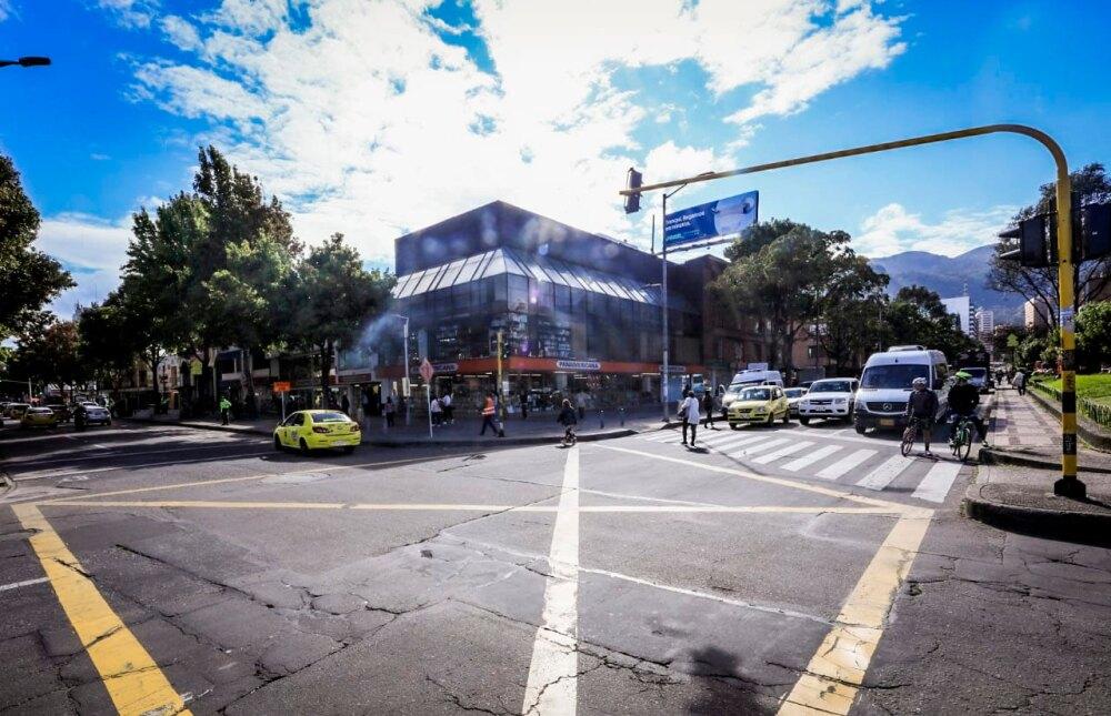 Calle 72 con carrera 15, norte de Bogotá