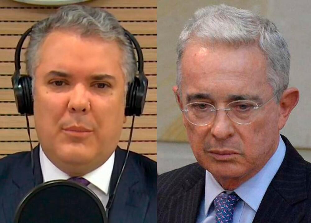 373102_Iván Duque y Álvaro Uribe // Fotos: Presidencia, AFP
