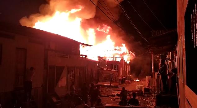 Incendio Ríosucio. Captura de video