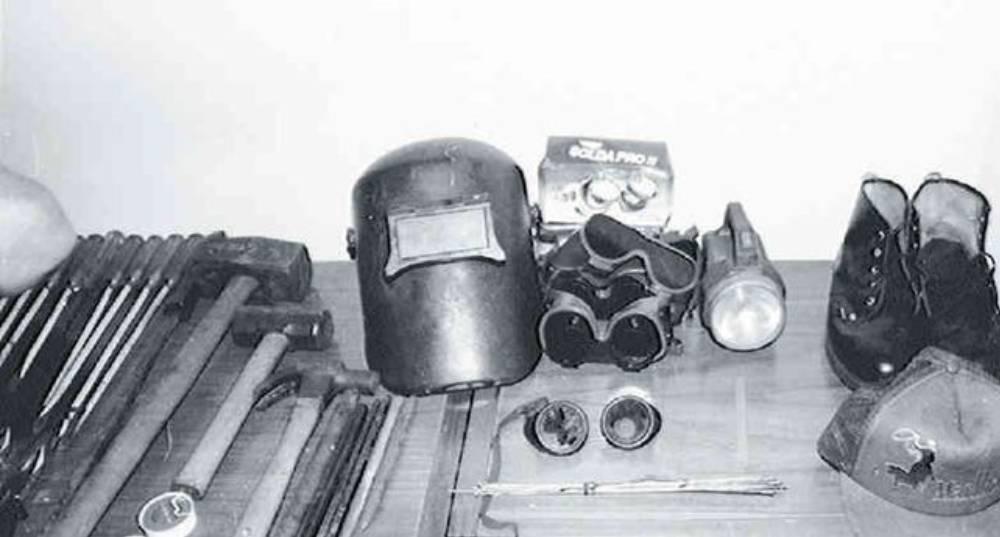 Elementos descubiertos por las autoridades tras el llamado 'Robo del siglo'
