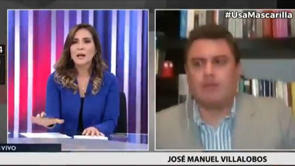 periodista en perú temblor captura de video.