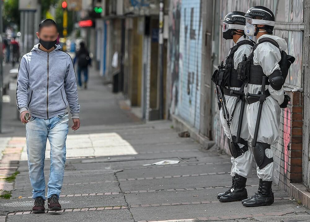 Cuarentena en Bogotá Foto: AFP