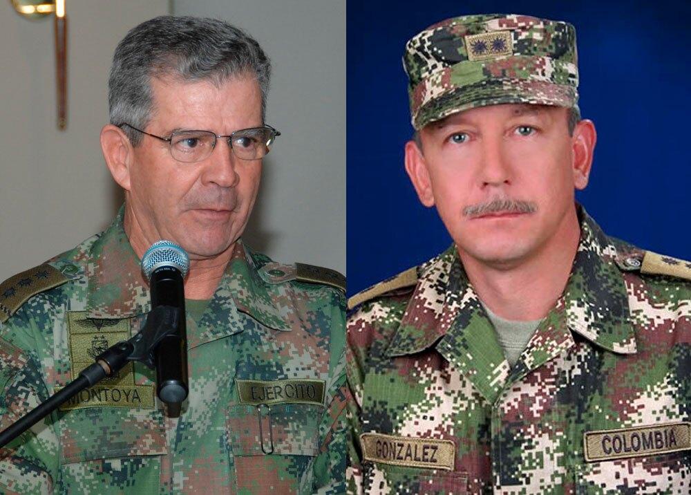 Generales (r) Mario Montoya y Óscar Enrique González Peña