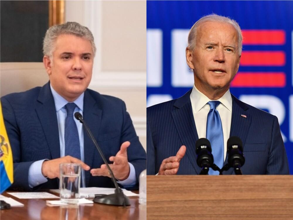 Iván Duque - Joe Biden / Fotos Presidencia y AFP