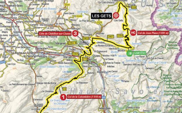 Así será la etapa 8 del Critérium del Dauphiné 2021.