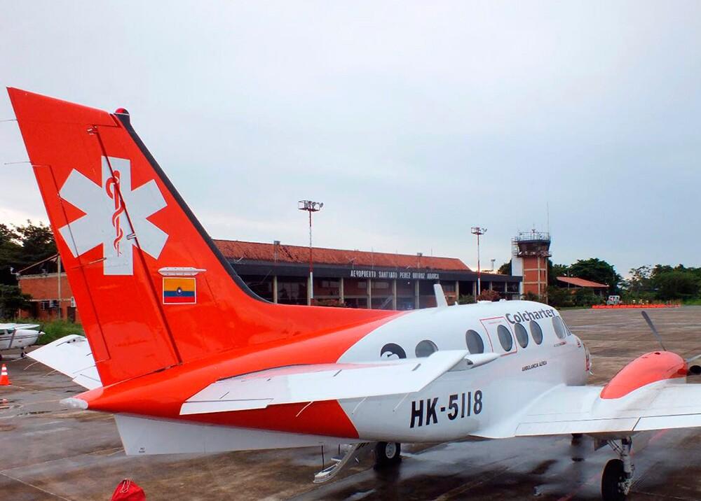 280822_Bluradio. Avión ambulancia Arauca - Foto: Fiscalía