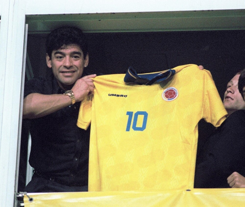 Diego Maradona, camiseta Colombia