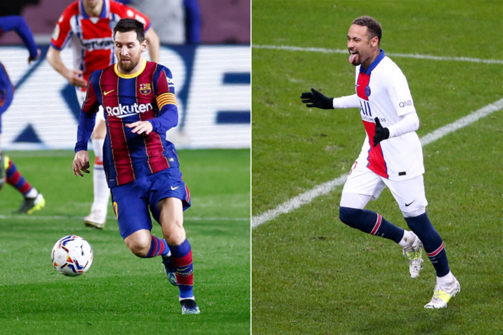 Lionel Messi y Neymar. Getty Images.png