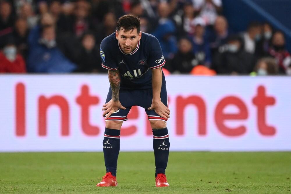 Messi en su partido vs Olympique de Lyon