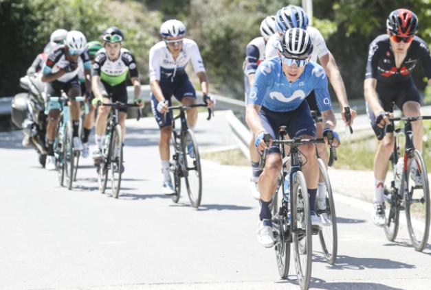 Miguel Ángel López es segundo en la general de la Vuelta a Andalucía. Cortesía: Photo Gomez Sport.