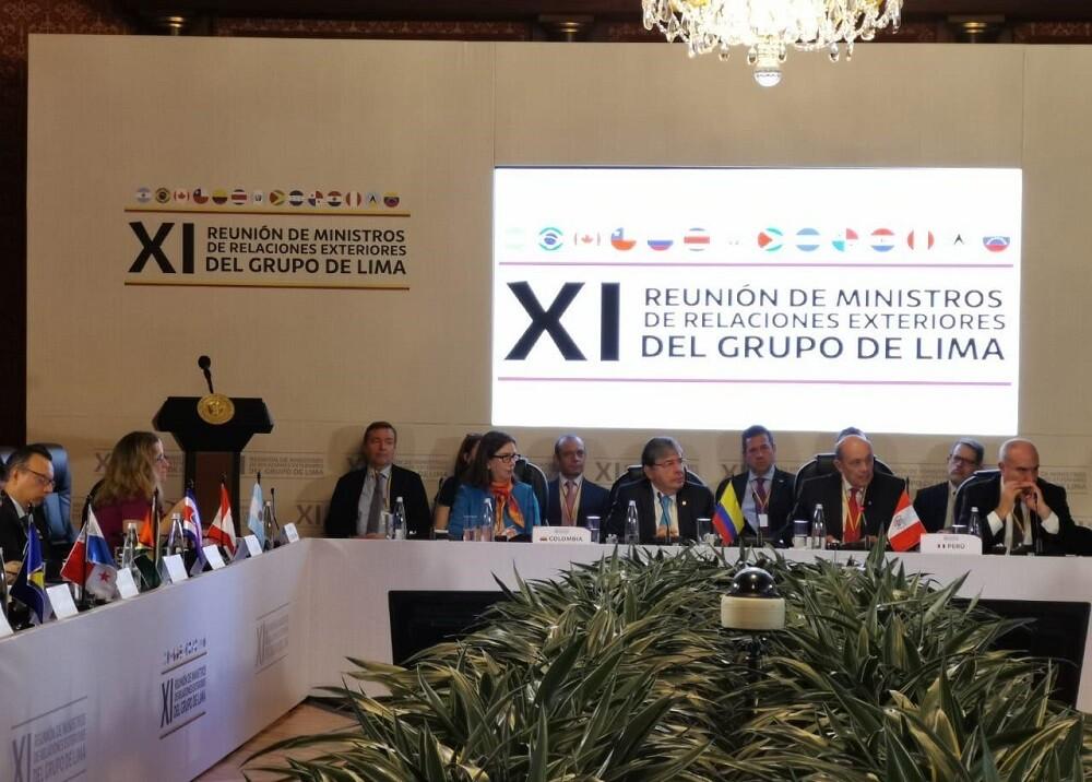 328409_Blu Radio. Grupo de Lima. Foto: Cancillería