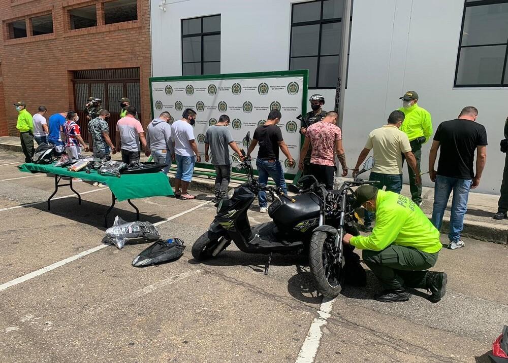377009_Hurtos de motocicletas en Bucaramanga / Foto: Policía