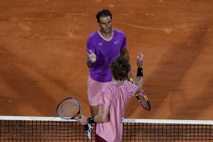 Rafael Nadal fue eliminado por Andrey Rublev en el Masters 1000 de Montecarlo.