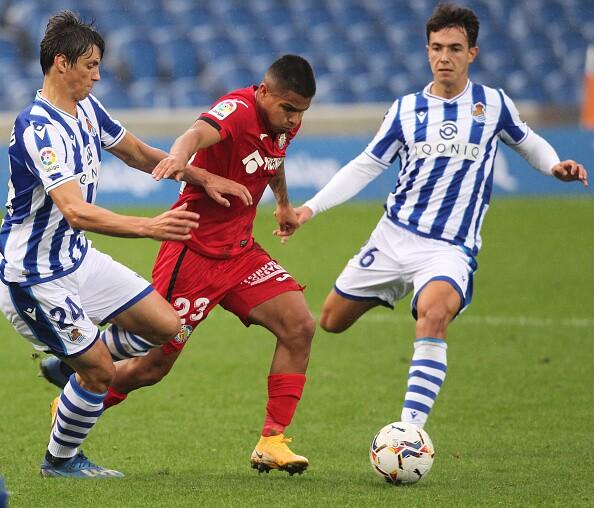 Juan Camilo Hernández Real Sociedad v Getafe CF - La Liga Santander