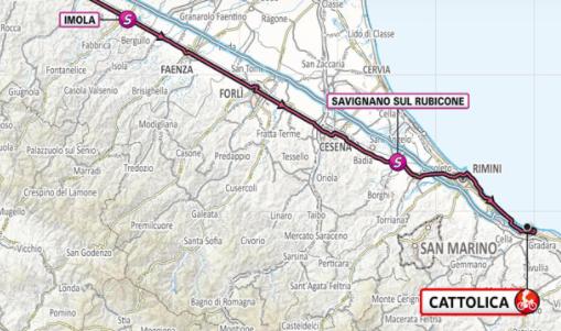 Así será la etapa 5 del Giro de Italia 2021.