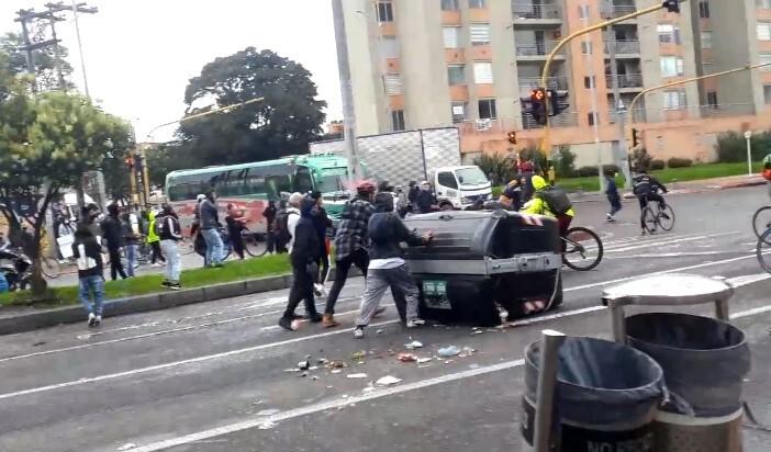 Disturbios en Engativá por paro nacional