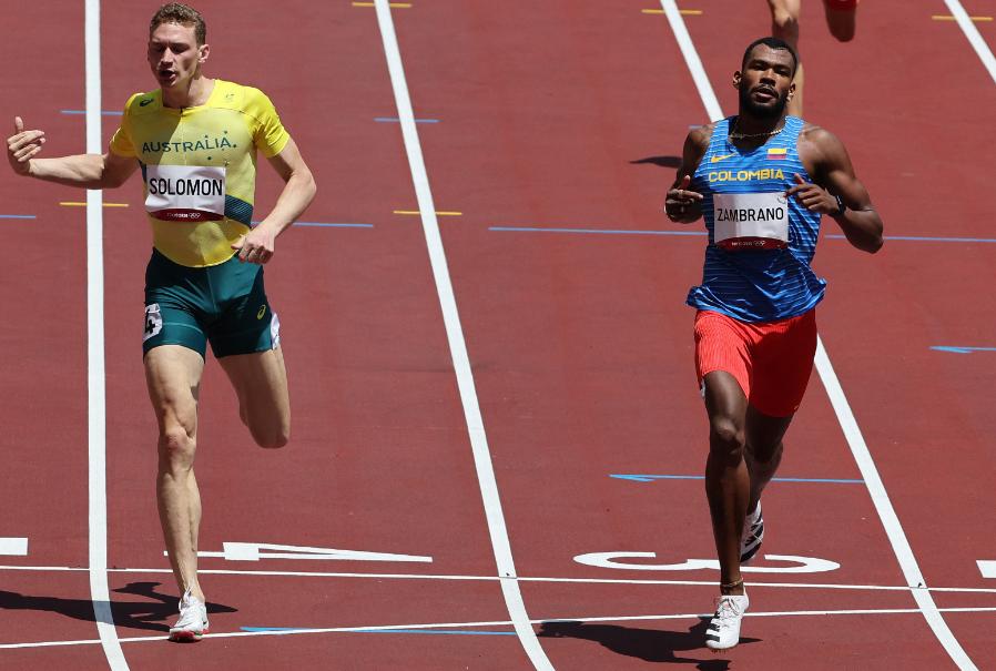 Anthony Zambrano clasificó a la semifinal de los 400 metros de los Juegos Olímpicos Tokio 2020.
