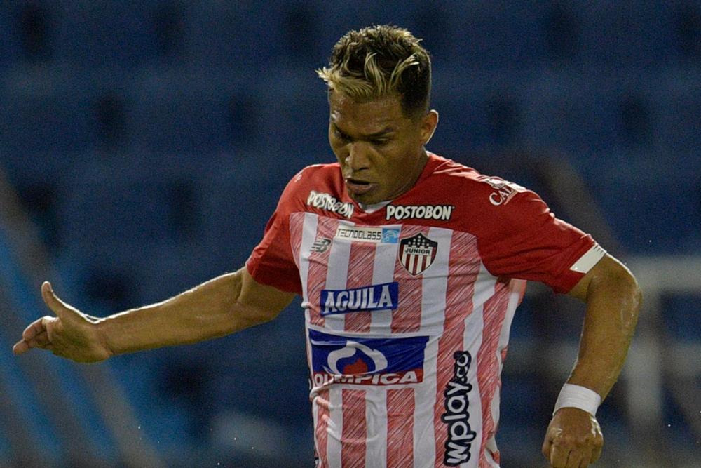 Teófilo Guitérrez, jugador del Junior de Barranquilla. AFP.png