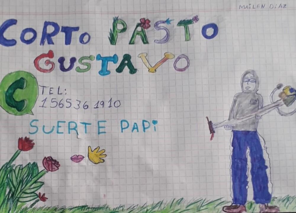 DIBUJO DE NIÑA QUE BUSCÓ EMPLEO PARA EL PAPÁ.jpg