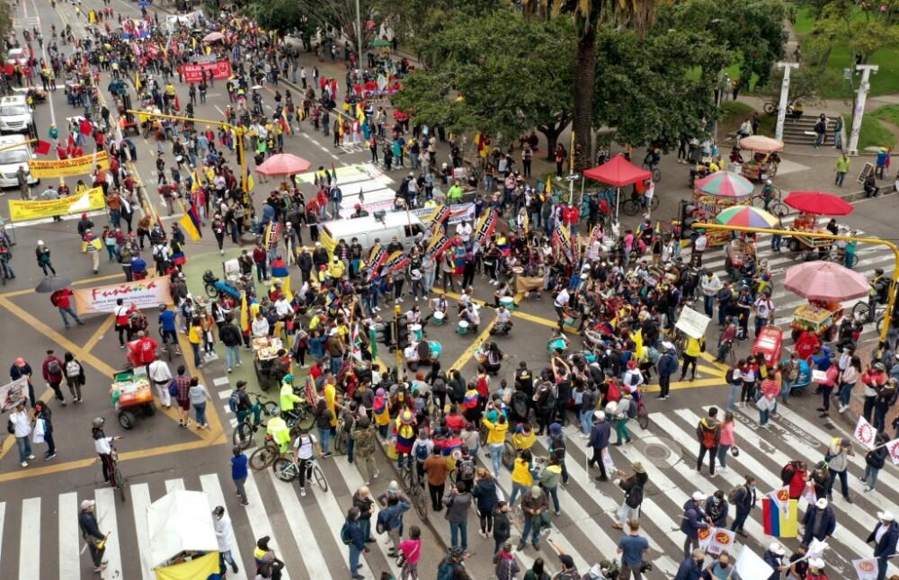 Puntos de concentración marchas en Bogotá