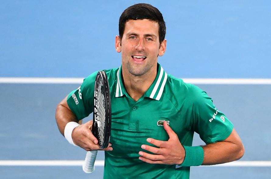 Novak Djokovic se estrenó con victoria en el Abierto de Australia 2021.