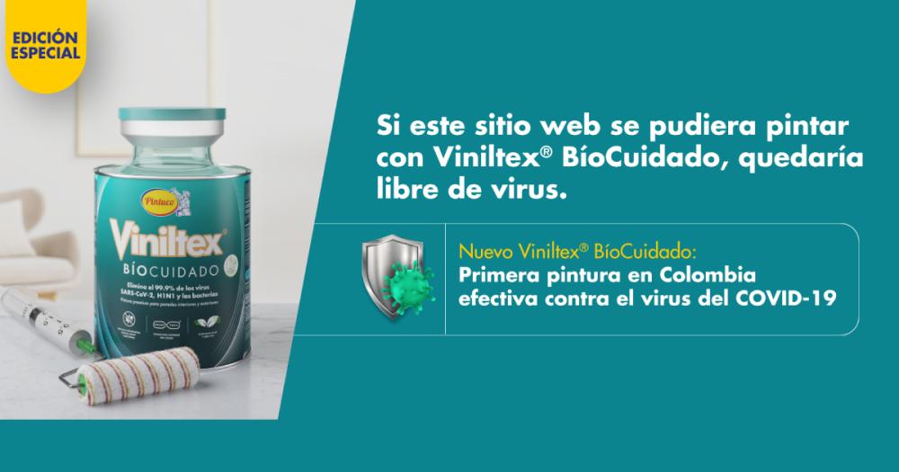 Viniltex Bíocuidado de Pintuco, la primera pintura hecha en Colombia que elimina el 99,9% del Covid-19