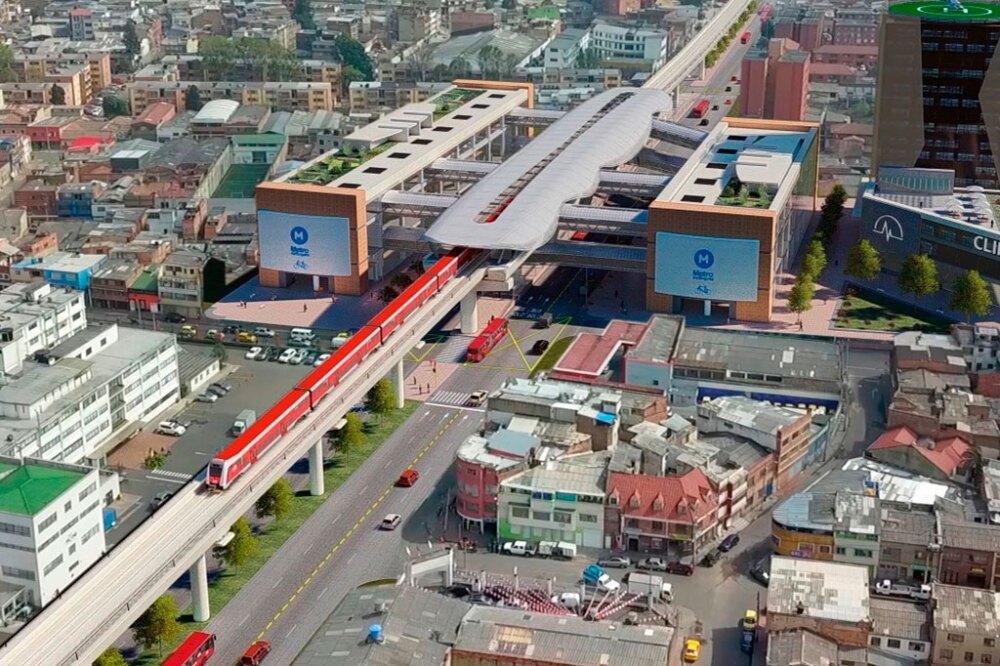 Render del Metro de Bogotá