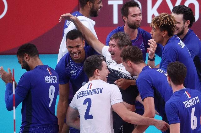 Francia contra Rusia, en voleibol de los Juegos Olímpicos de Tokio 2020