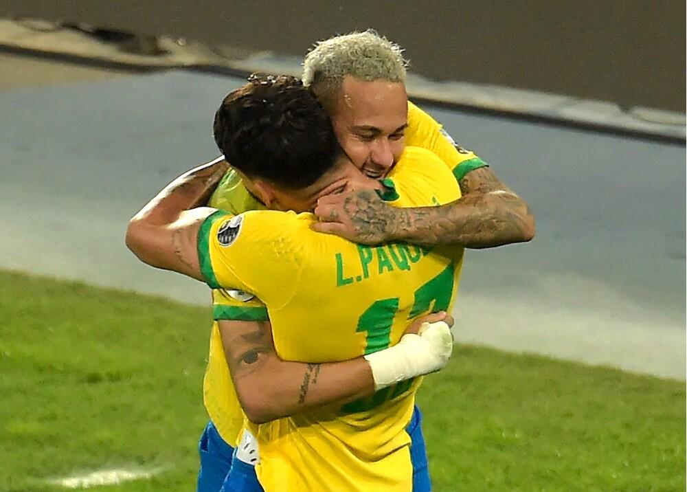 Lucas Paquetá Neymar Selección Brasil AFP.jpg