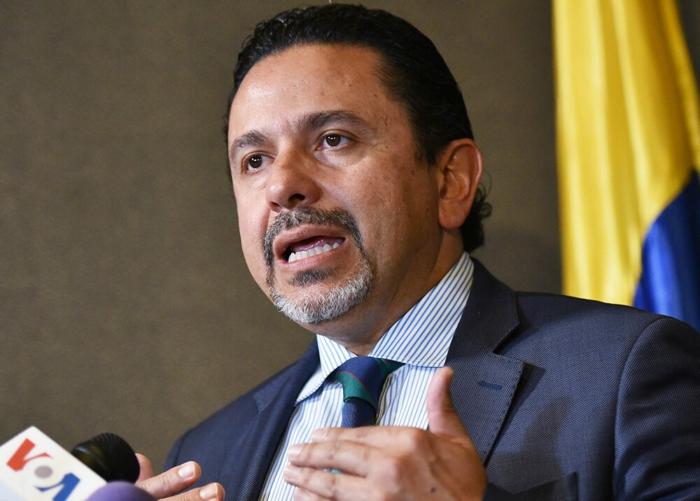 Miguel Ceballos, comisionado de Paz // Foto: AFP