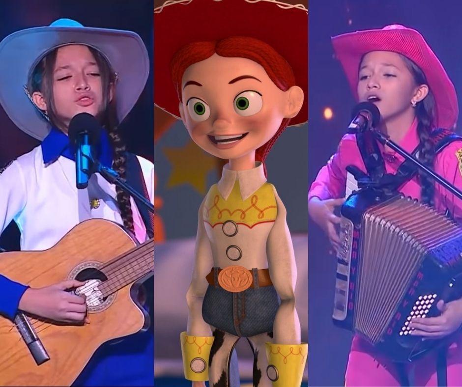 La similitud entre María Liz, de La Voz Kids, y Jessie, de Toy Story.