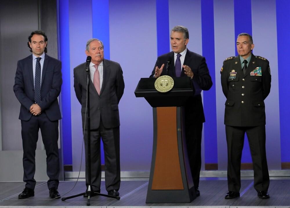 336101_BLU Radio. MinDefensa Guillermo Botero y presidente Iván Duque / Foto: Presidencia