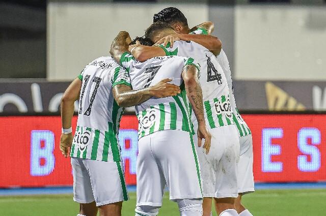 Celebración de Atlético Nacional contra Alianza Petrolera