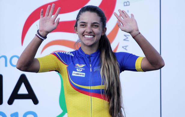 Fabriana Arias, patinadora colombiana.