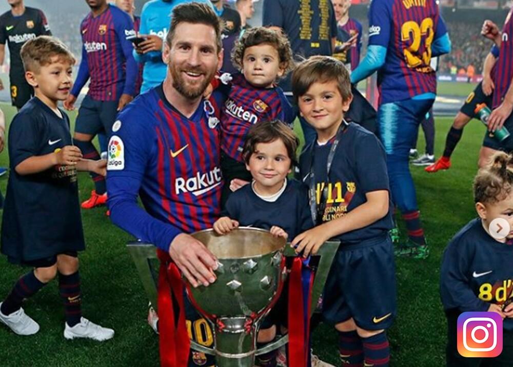 335627_BLU Radio. Lionel Messi y sus hijos. Foto: Instagram @leomessi