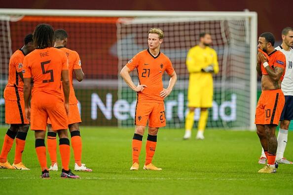 Jugadores de la Selección de Países Bajos.