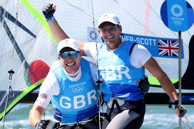 Dylan Fletcher y Stuart Bitthell, en los Juegos Olímpicos de Tokio 2020
