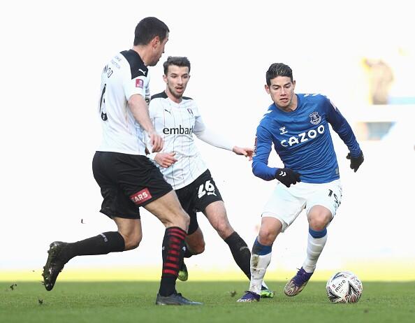 James Rodríguez Everton vs Rotherham