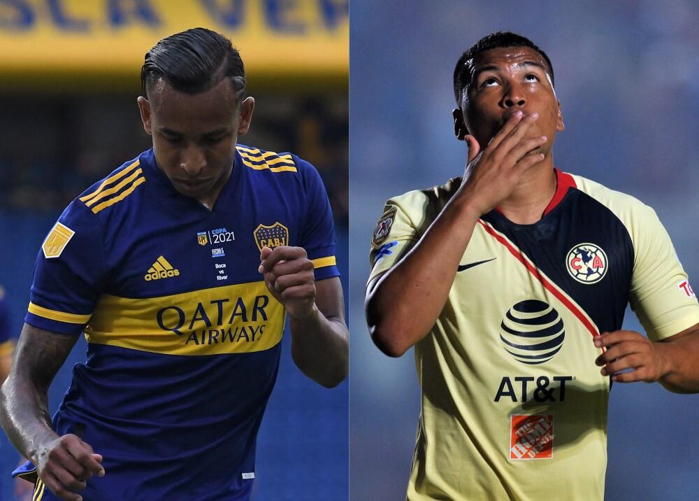 Sebastián Villa y Roger Martínez Foto AFP.jpg