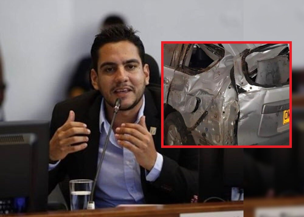 """Es falso que viniéramos tomando"": Concejal Alex Flórez explica accidente en carro oficial"
