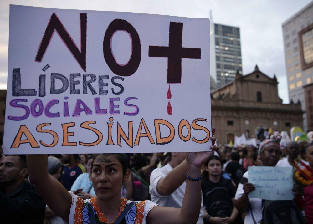 340273_BLU Radio. Lideres sociales // Foto: Ernesto Guzmán Jr - EFE