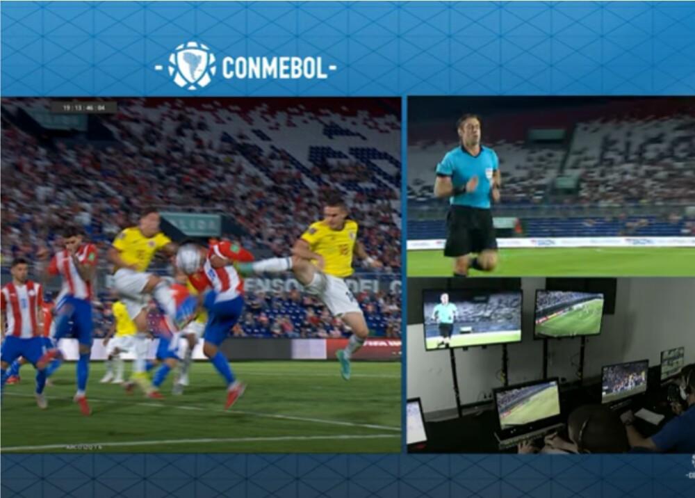 Revisión VAR en partido Colombia- Paraguay _captura video Conmebol.jpg
