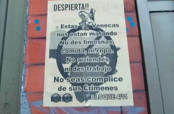 panfletos contra venezolanos en Bogotá